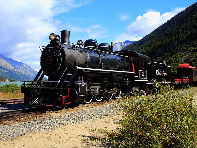 El camino del oro hacia el Klondike. La locomotora del WP&YR