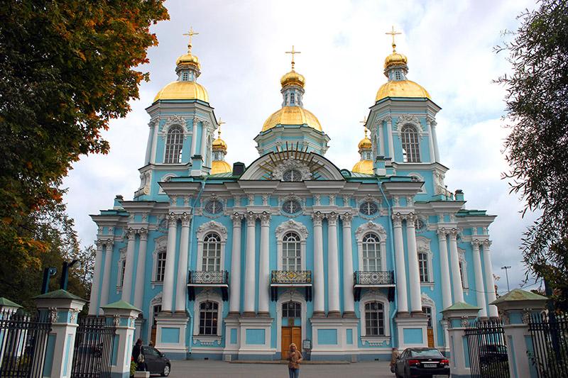 La Catedral de San Nicolás de los Marinos. San Petersburgo