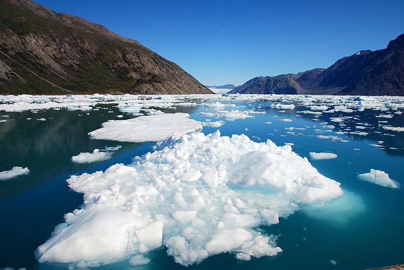 Glaciar activo de Qoorooq. Groenlandia