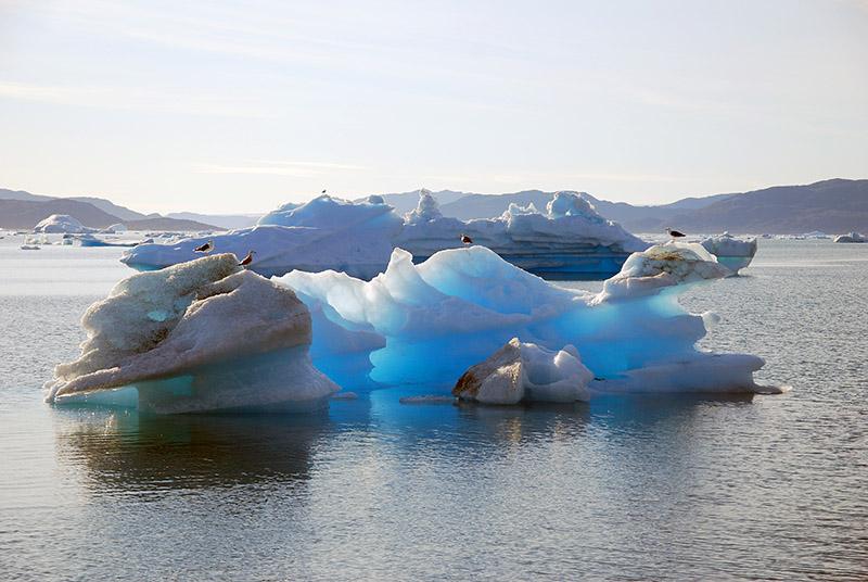 Travesía por glaciares de Narsaq. Groenlandia