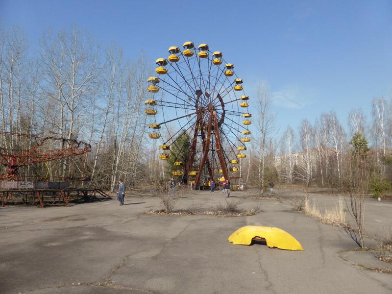 Noria en el parque de atracciones de Pripyat