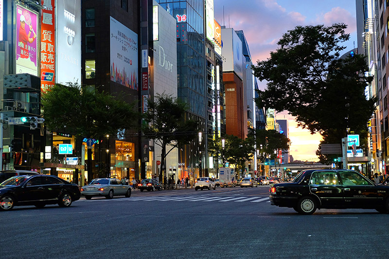Ginza. Japon