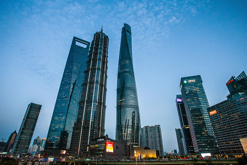 Torre World Financial center, Torre Jinmao y Torre de Shanghái