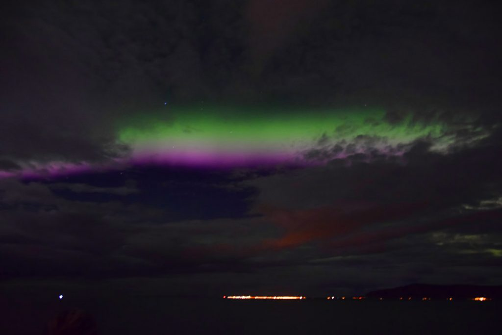 Aurora Boreal desde la costa