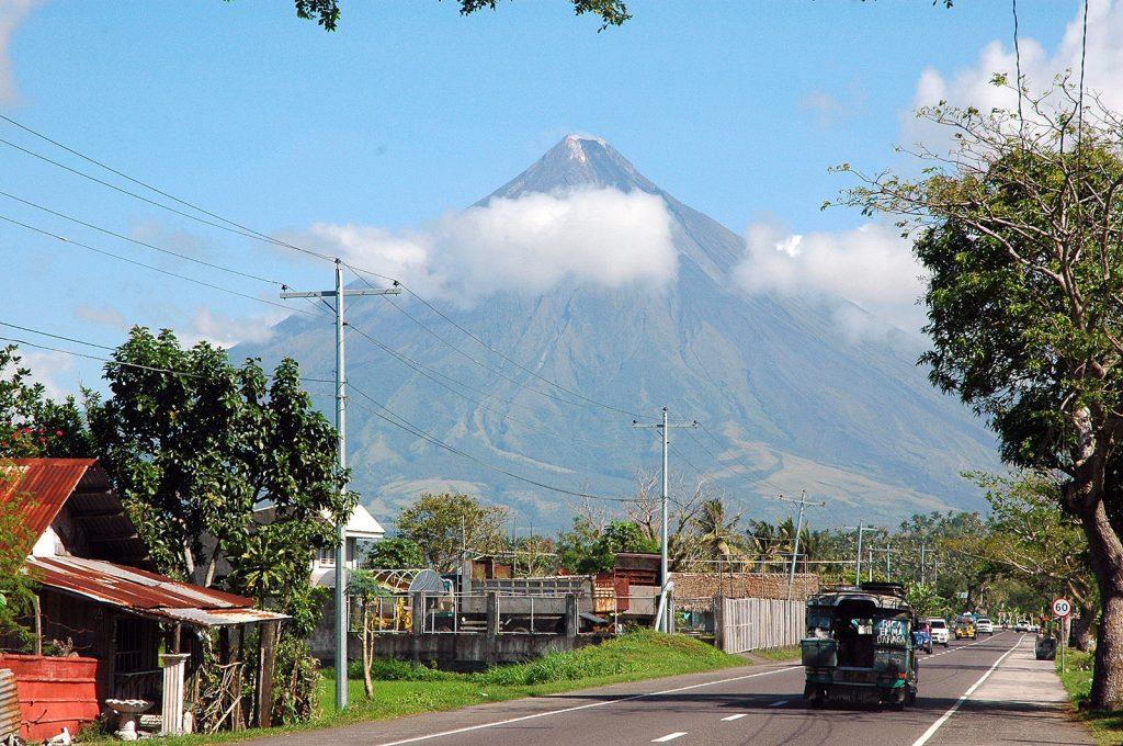 El volcán Mayon