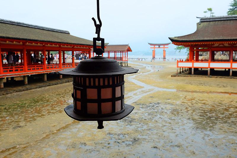 El Santuario Itsukushima. Japon