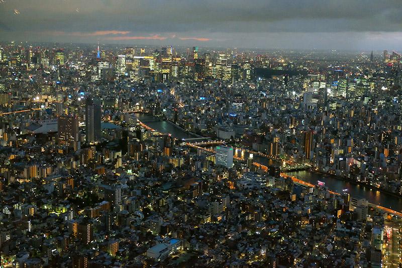 Vistas desde la Torre Tokyo Skytree. Japon