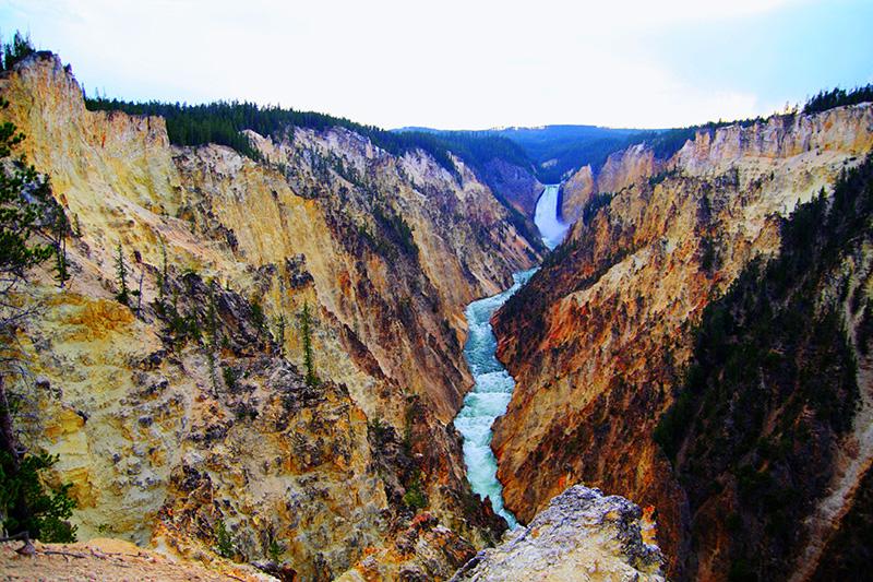 Gran Cañón y cascada de Yellowstone