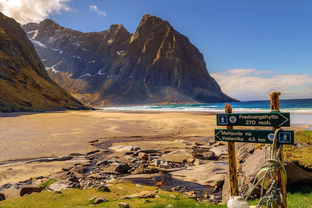 Noruega: Playa Kvalvika