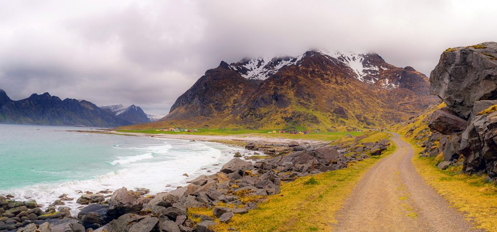 Noruega: Playa Uttakleiv