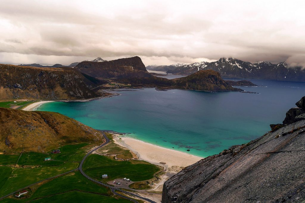 Islas Lofoten. Vistas de Haukland
