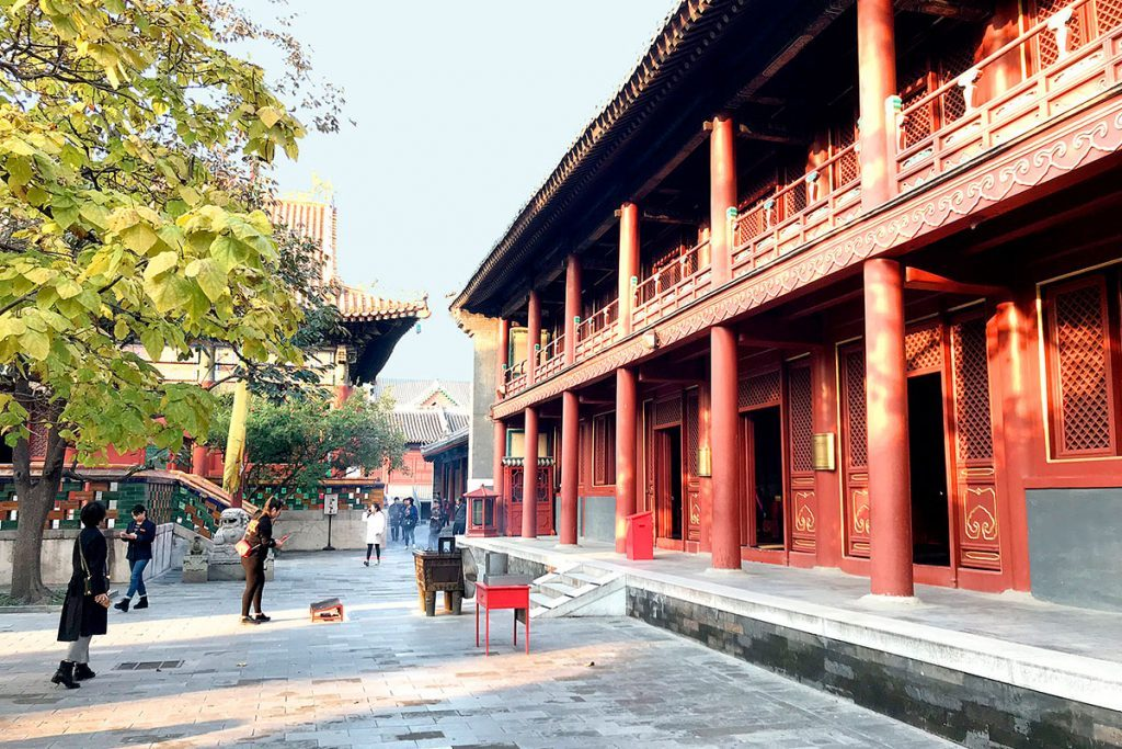 Lama Temple - Jardín interior