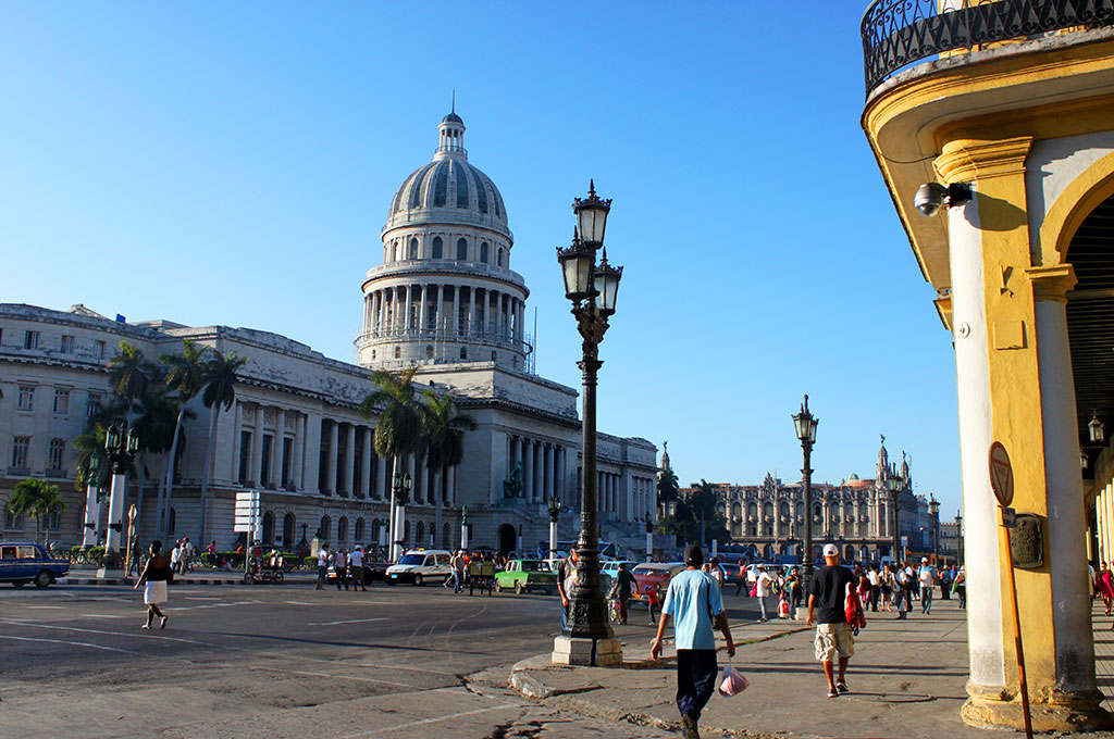 La espectacular cúpula del Capitolio en la capital cubana