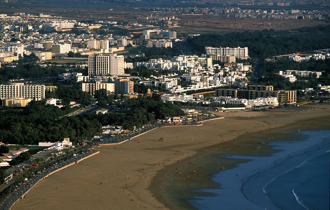 Playas de Marruecos. bahía de Agadir