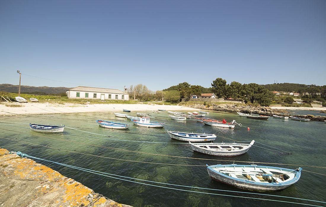La Coruña turismo. Praia de Cabanas