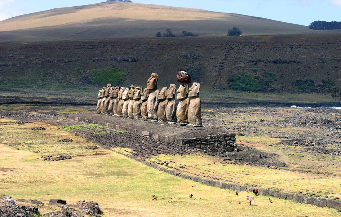 Isla de Pascua. Ahu Tongariki