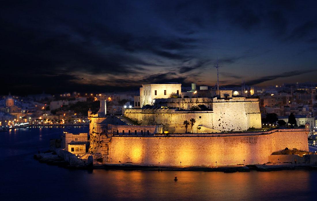historias de Malta. Fuerte de San Ángelo