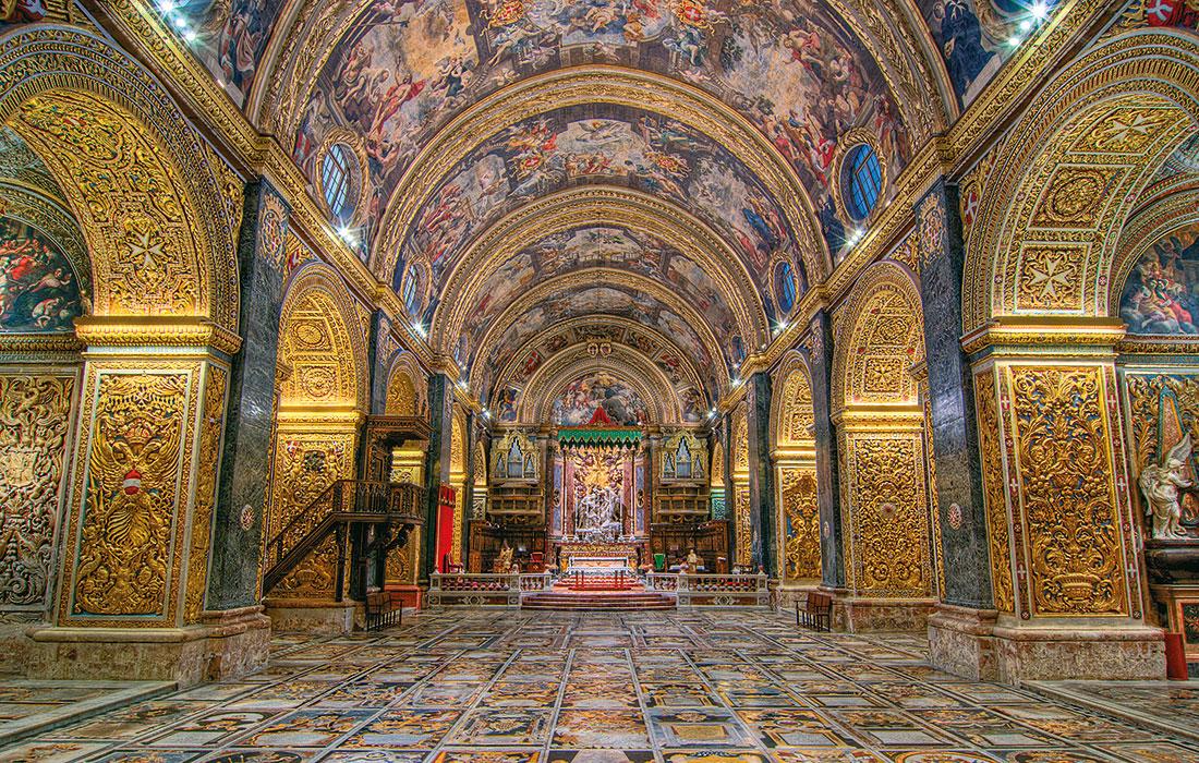 Malta en invierno. Concatedral de San Juan