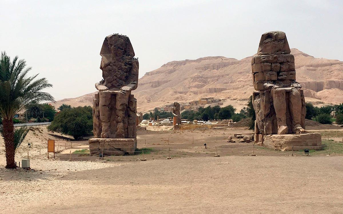 Visitar Egipto. Los Colosos De Memnon