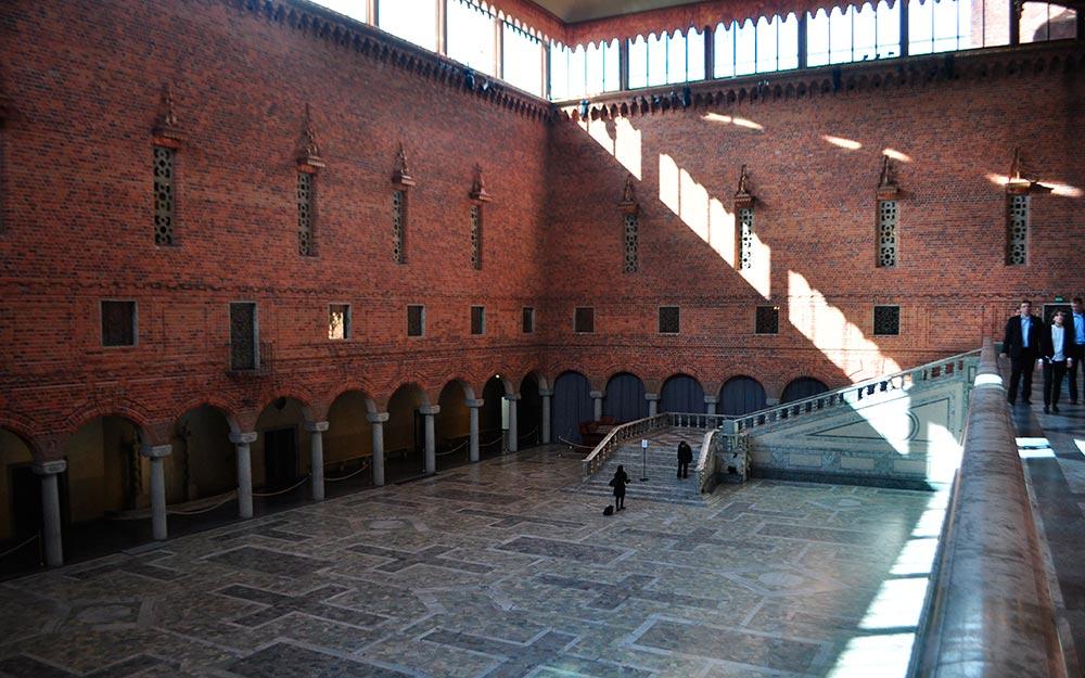 viaje a Estocolmo. Palacio del Ayuntamiento, la Sala Azul